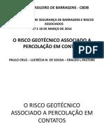O Risco Geotécnico Associado a Percolação Em Contatos - Paulo Cruz