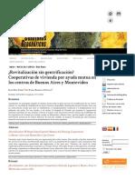 Díaz Rabasco. Revitalización Sin Gentrificación. _ Cooperativas de Vivienda Por Ayuda Mutua en Los Centros de Buenos Aires y Montevideo