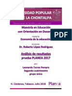 Analisis Prueba PLANEA 2017