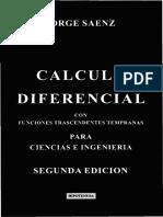 Cálculo Diferencial con funciones trascendentes tempranas - 2Ed. - Jorge Saenz