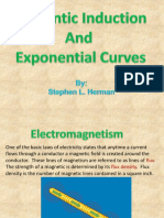 Magnetic Induction and Exponental Curves