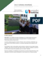 02-08-2018 Entrega Gobernadora 2 Vialidades Rehabilitadas- uniradio