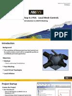 Mesh-Intro 17.0 WS4.1 FEA Local Mesh Controls