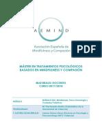 Mindfulness Psico-Oncologia y Cuidados Paliativos