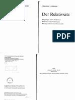 Lehmann Der Relativsatz