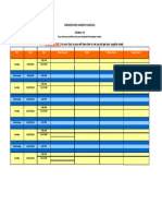 Nursery Schedule
