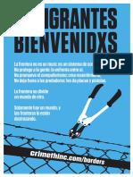 Afiche; Inmigrantes Bienvenidxs