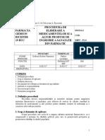 PL 8 - Procedura de Eliberare a Medicamentelor Şi a Altor Produse de Îngrijire GR