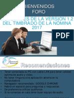 Foro Novedades de La Version 1.2 Del Timbrado de La Nomina 2017