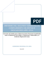 Modelo de Informe Semestral 2016 II Lima