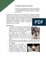 Tipos de Danzas y Bailes Folclóricos mexicanos