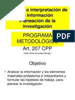 2a. Analisis Informacion Planeacion Investigacion