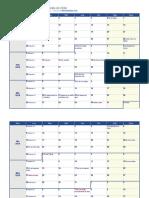 Calendario Chile 2020.Calendario 2020 Una Pagina