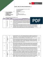 Programacion  Curricular Anual de  Comunicacion 5°B  Secundaria 2018 - Ccesa007