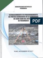 Informe Puntos Geodesicos Con Gps Diferencial