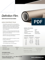 Definition Adhesive Rear Projection Surface
