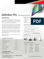 Definition Pro Matte Glossy Optical Rear Projection Surface