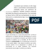 Peligros del plástico