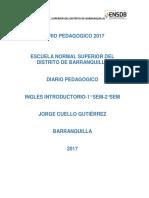 Diario Pedagógico 2017
