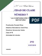Planificación Actividad 7 - 2da