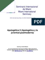 Apologetica Y Juventud Postmoderna - Jaime Morales.pdf