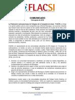Comunicado Flacsi Nicaragua