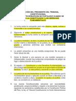 DECLARACIÓN DEL PRESIDENTE DEL TRIBUNAL CONSTITUCIONAL