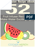 52 water infuser recipes