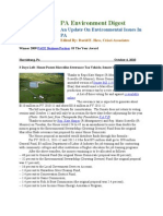 Pa Environment Digest October 4, 2010