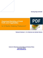 CRISP Working Paper-Organised Retailing in Fruits and Vegetables