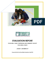 First 5 Humboldt Local Eval Report 2017 - Focus Areas 3&4