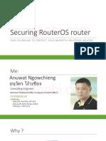 02. Securing RouterOS Router Sahoobi.com