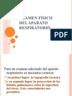 Examen Fisico Aparato Respiratorio 16 Marzo