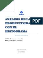 Analisis de La Productividad Con El Histograma