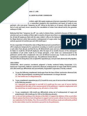 Fe s  Sebuguero vs  National Labor Relations Commission