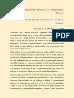 San Cesáreo de Arlés, Obispo. La Misericordia Divina y La Misericordia Humana.