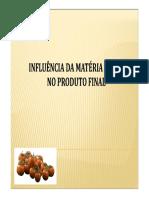Influencia Da Materia Prima No Produto Final