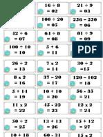 Lotería Calculo Mental 1 - 120