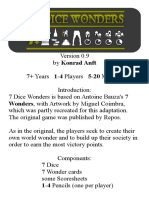 7 Dice Wonders Mini Rulebook