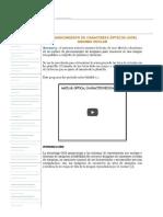 Reconocimiento de Caracteres Ópticos (Ocr) Usando Matlab