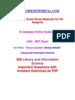 Cbse Net Portal - Library Science