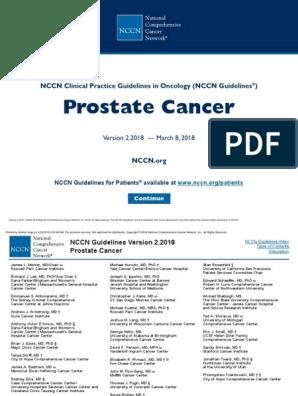 linee guida prostata nccn