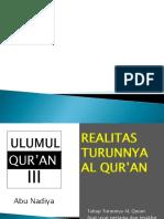 Realitas Turunnya al qur'an
