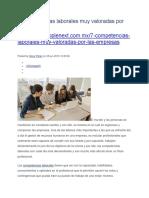7 Competencias Laborales Muy Valoradas Por Las Empresas