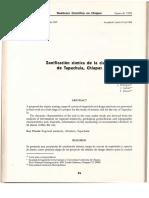 Zonificacion Sismica de La Ciudad de Tapachula
