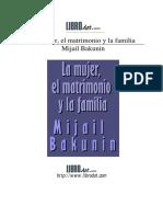 Mujer matrimonio y familia  BAKUNIN