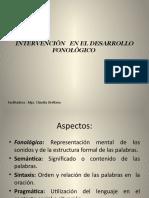 Intervención en El Desarrollo Fonológico