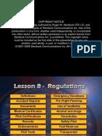 CFI Lesson 8 Regulations