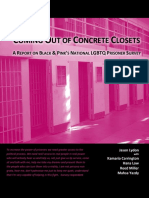 Coming Out of Concrete Closets. Black and Pink. October 21 2015.