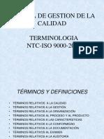 NTC ISO 9000 Vocabulario